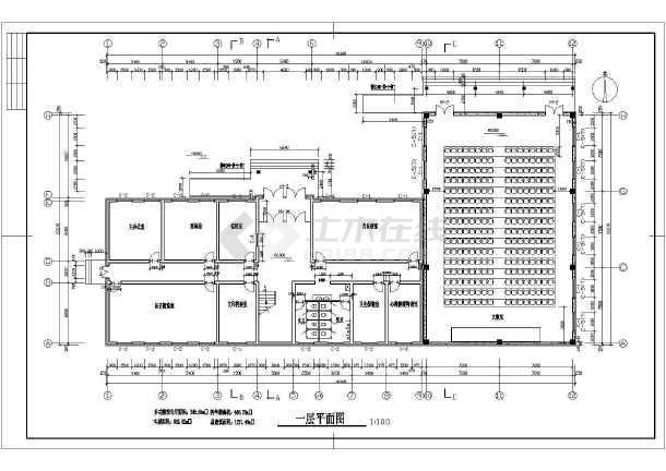 某学校二层教学综合楼建筑设计方案图纸高清图片