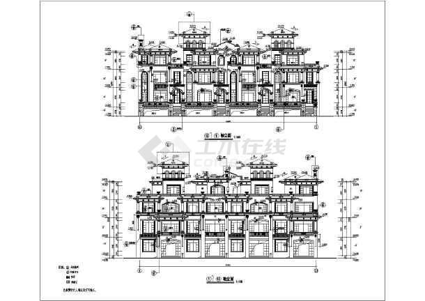 某三层混凝土结构别墅建筑结构图_cad图纸下载-土木
