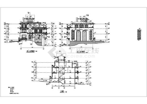 某三层混凝土结构别墅建筑结构图