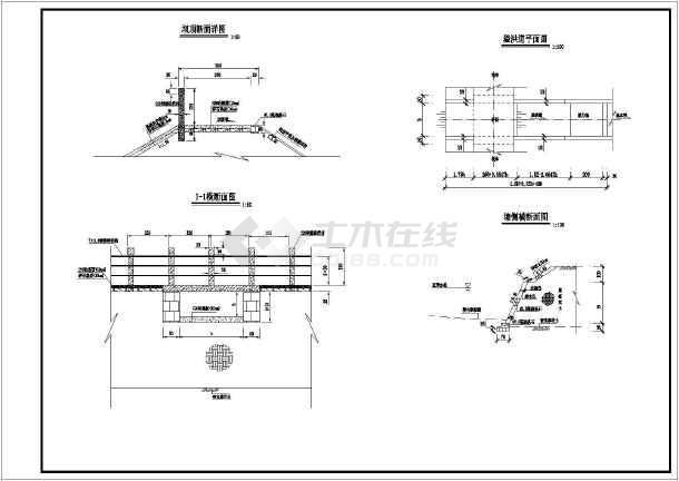 图纸 水利工程设计图 其他图纸 水利枢纽 某地山坪塘设计图纸  普通
