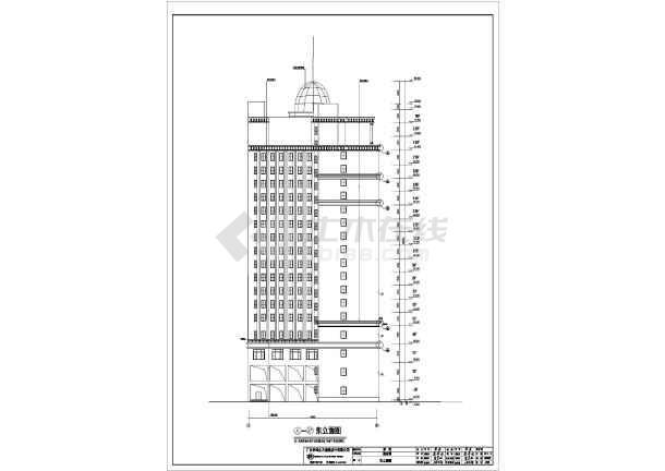 某地19层框架结构酒店建筑方案图