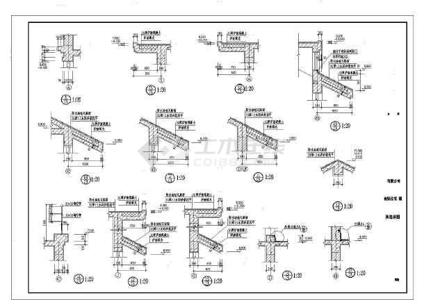 二层带阁楼中西独院式别墅建筑施工图-图1