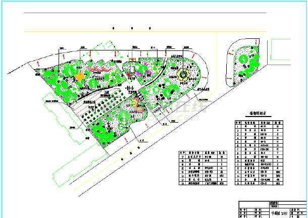 【上海】某大道三角绿地绿化设计方案图图片