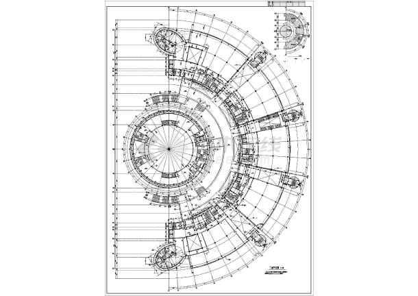 【广东】半圆式现代风格文化艺术中心建筑设计施工图