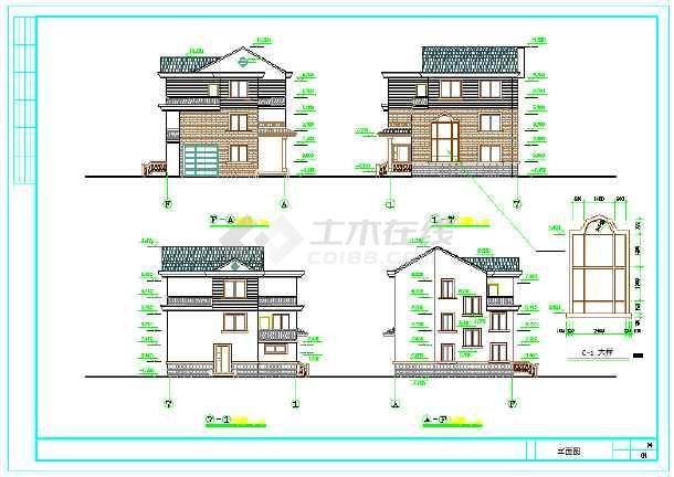 【安徽】某地新型图纸图片建筑设计施工农村机器住宅传送带图纸图片