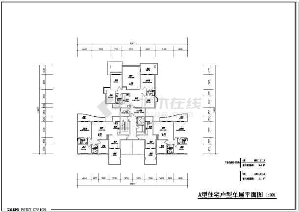 住宅户型平、立面图(含建筑面积)-图3