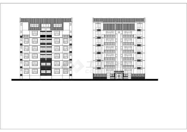 住宅户型平、立面图(含建筑面积)-图1