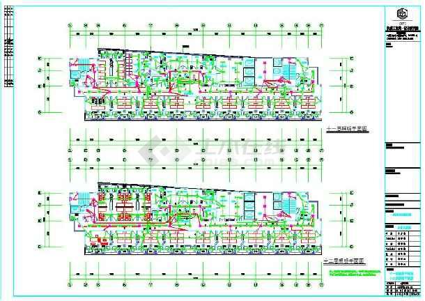 医院12层民用图纸电气设计施工全套(带地下室a2图纸规格