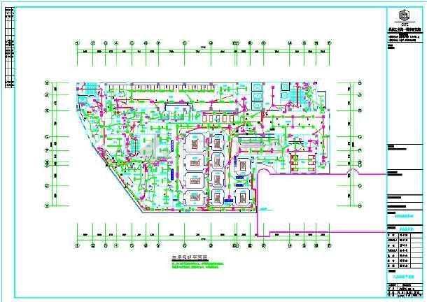 图纸12层民用电气简易施工设计图纸(带地下室柜全套医院
