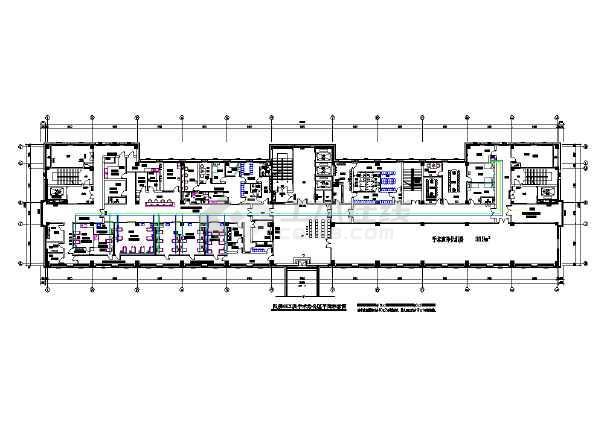某城市医用气体工程部分暖通设计图