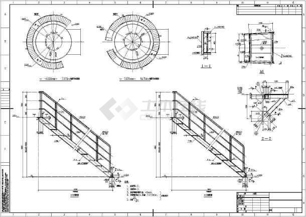 某钢烟囱结构设计图(含设计说明)图片
