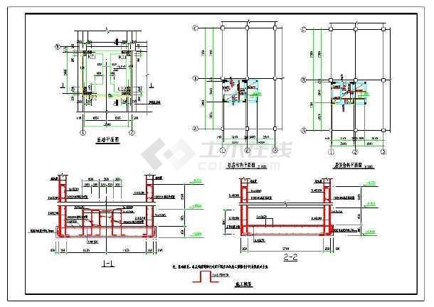 电梯井加固改造结构施工图(共4张图)图片1
