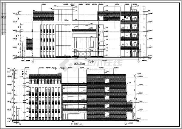 5900平方米5层框架结构教学楼设计建筑全套cad设计施工图(说明齐全)