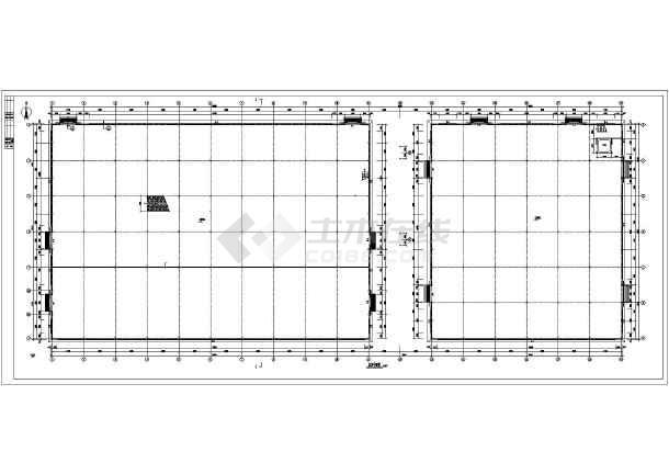 某二层新建厂房轻钢结构施工图(局部单层)
