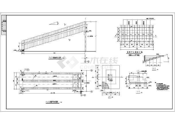 某30米封闭式钢桁架通廊结构设计施工图_cad12图纸10乘别墅图片