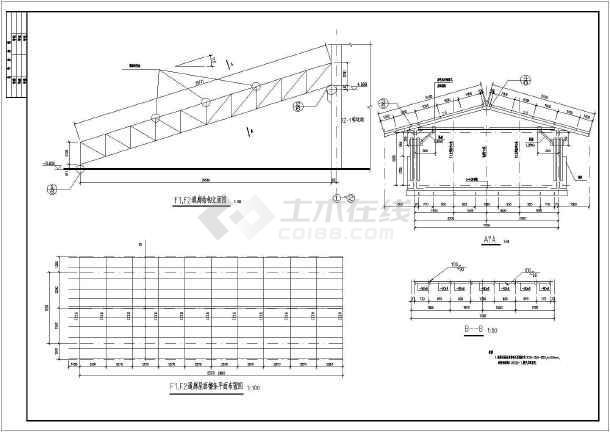 某30米封闭式钢桁架通廊结构设计施工图_cad航海世纪船制图纸图片