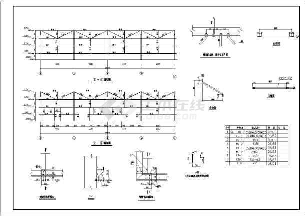 某14米跨单层厂房钢结构设计施工图