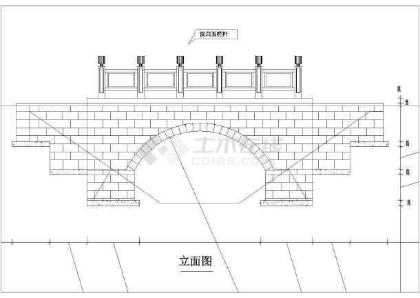 一个跨径4.6m的小石桥初步v图纸图纸怎么工程存放图纸图片