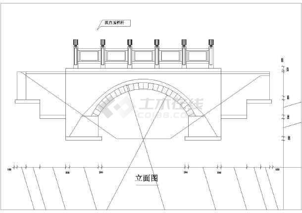 一个跨径4.6m的小石桥初步v符号符号的大全机械图纸图纸阀门上图片