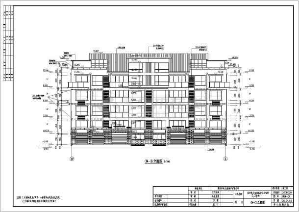 地五层框架结构塔式住宅建筑施工图