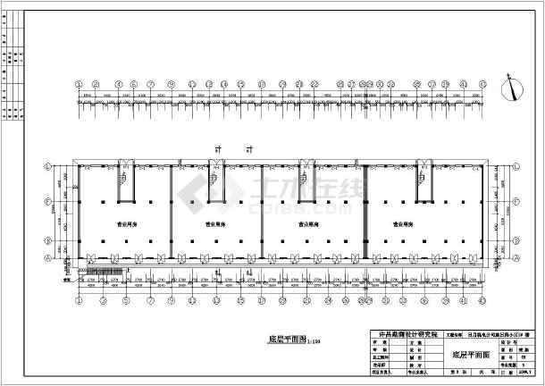 某地区五层底框住宅建筑,结构施工图纸