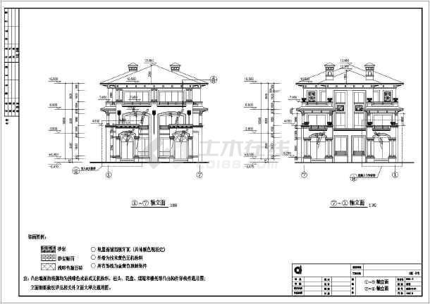 某地三层别墅坡屋顶双拼全套v别墅施工图京基100大厦六合无绝对图片