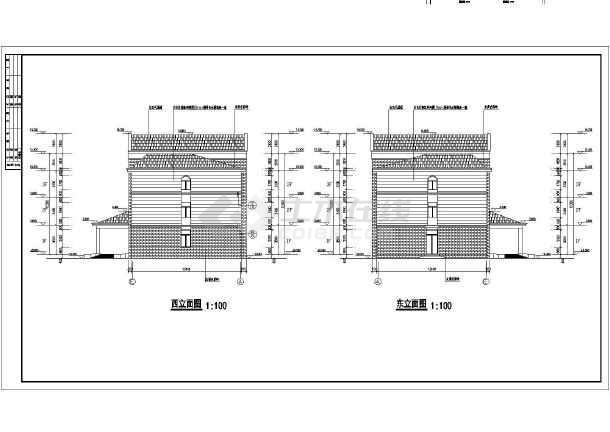 某公司三层框架结构办公楼建筑设计施工图