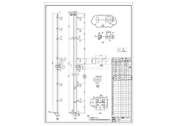 某地单层轻型门式钢结构厂房加工详图