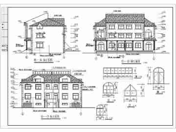 某地三层欧式错层别墅建筑方案设计图