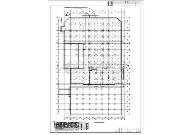 院框架结构图,有结构设计总说明