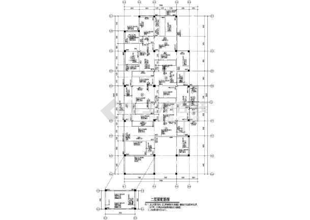 某影视城商铺,会所结构设计施工图图片1