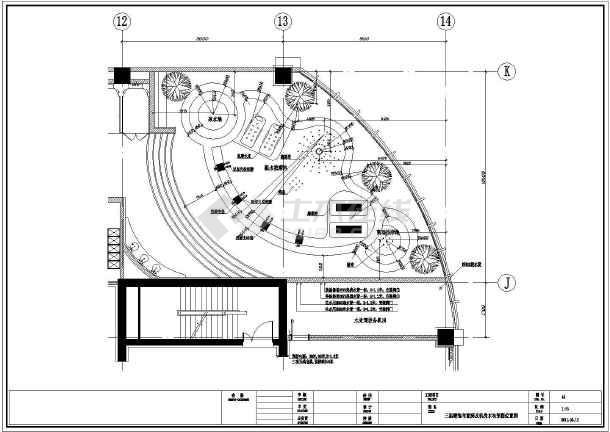 某地砖混结构会所桑拿房给排水平面设计图