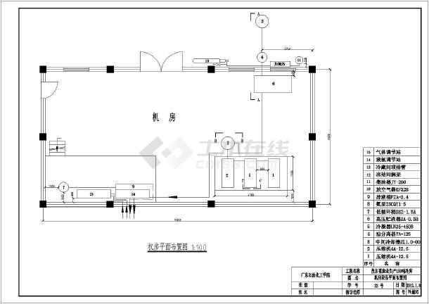 包括设计说明,设备表,冷库设计系统图,原理图,平面布置图,机房部分