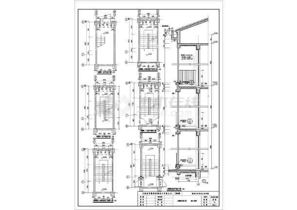 某地五层跃式框架结构住宅楼建筑设计施工图图片