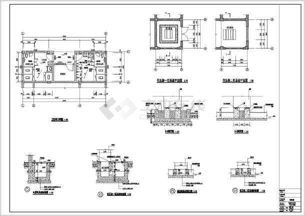 某地楼梯框架结构配电房建筑设计施工图单间二层的装修六合无绝对片