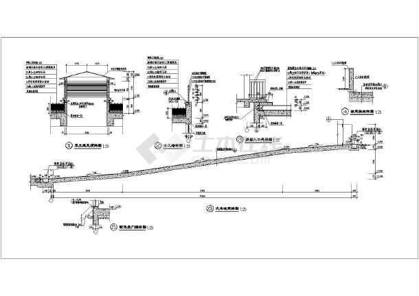 某住宅小区车库地下单层建筑设计施工图鱼庄名片设计图片