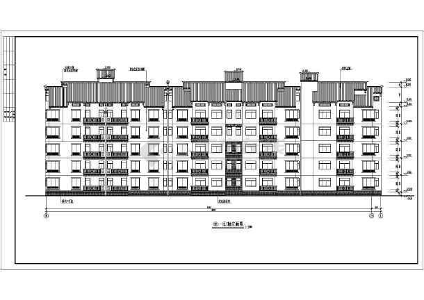某地区5层坡屋面住宅楼建筑设计方案图纸