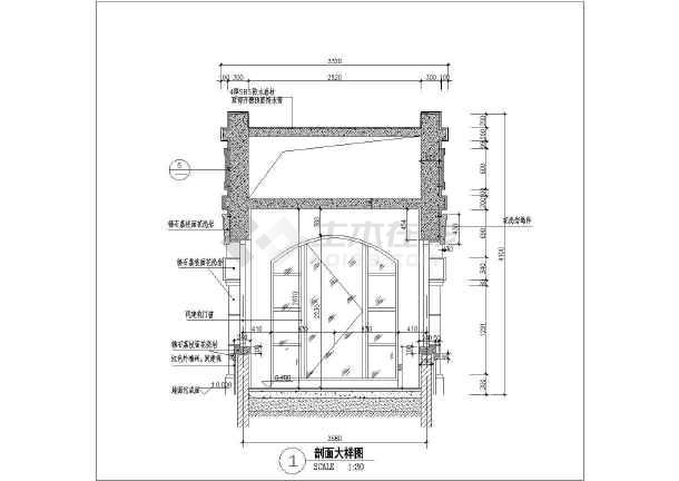 简欧式版次工程门卫室建筑设计施工图_cad图图纸入口小区图片