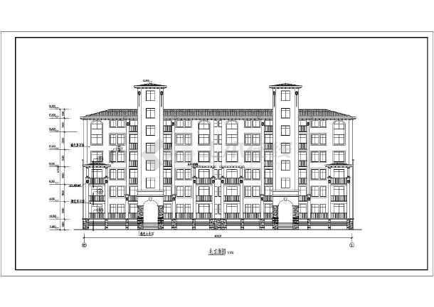 某小区六层住宅楼建筑设计方案,多层建筑电梯洋房,地下一层地上6层,为