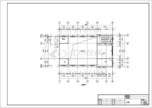 某城市二层小型教堂建筑设计施工图图片3