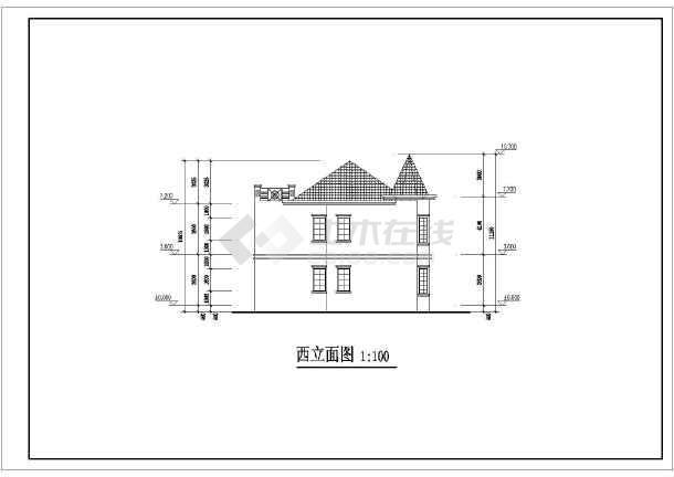 某小区二层别墅建筑设计施工图(含结构设计)