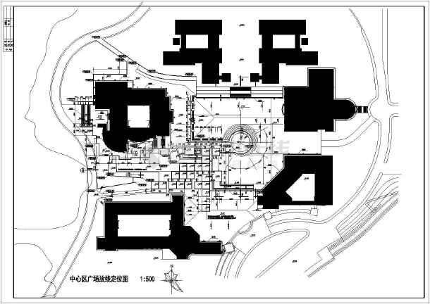 某学校教学楼广场环境设计图纸图片