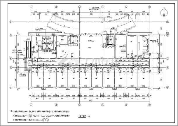 某地现代建筑风格两层半病房楼建筑施工图