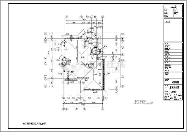 【浙江】某2层欧式风格双拼别墅建筑施工图