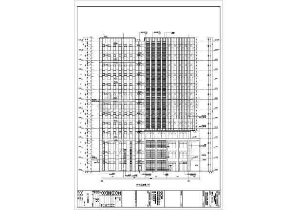 南京某12层框架核心筒结构办公楼建筑方案设计