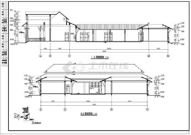 某单层欧式酒店办公楼建筑设计施工图