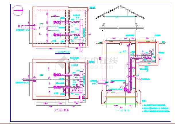 泵房提升污水设计图纸_泵房提升图纸设计污水笔设计师的图片