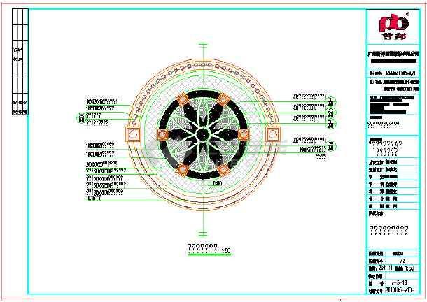 欧式铁艺亭子cad设计详图(13张),铁艺亭子设计图纸包括:圆亭指引铺装
