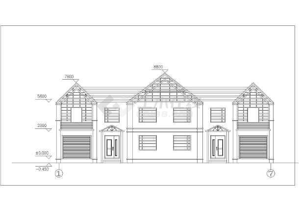 农村四间两层房屋设计图