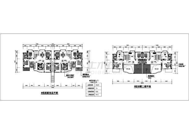 某地区叠加别墅方案图(含建筑面积)-图2